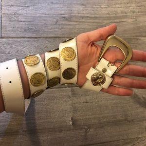 Accessories - [Emperor Napoleon lll] Gold/White Coin Belt